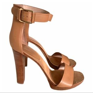 Joie Leather Strappy Sandal Tan Heel Size 40
